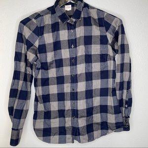 J. Crew Buffalo plaid flannel button down shirt
